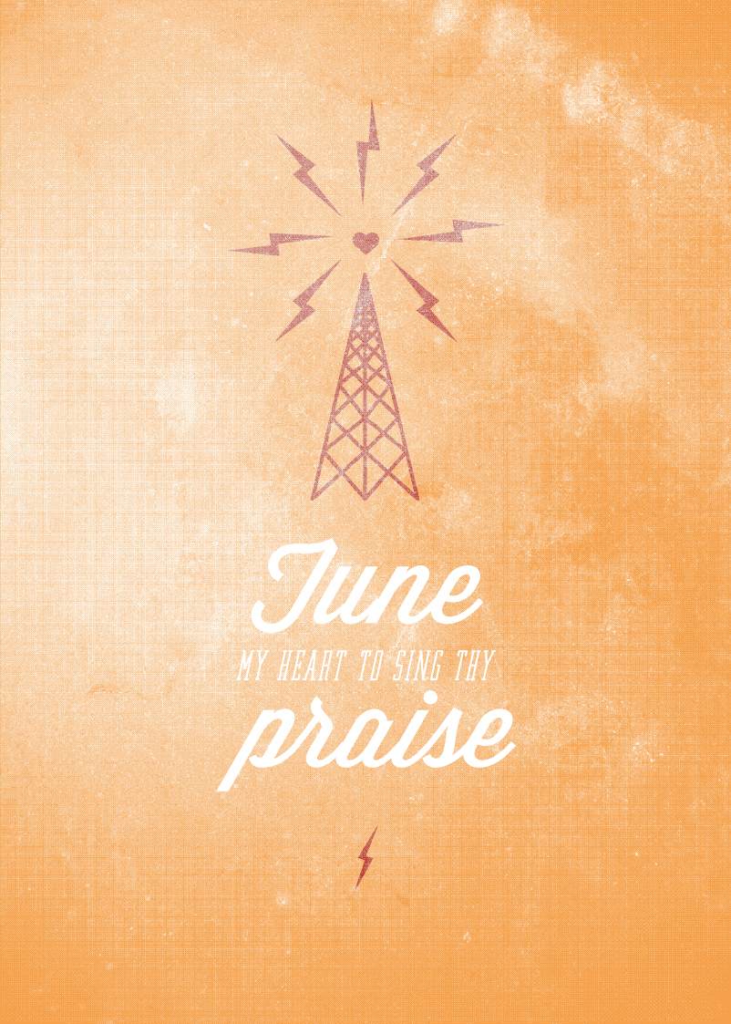 Come Thou Fount, Church Graphic Designers, Song Lyric Designs