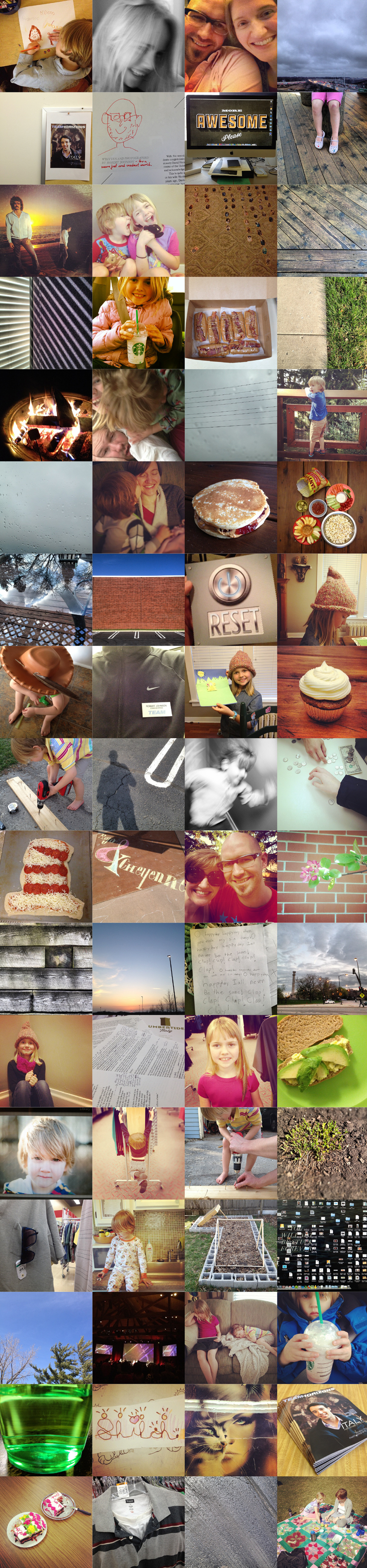 instagram monthly, the month in instagrams