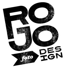 rojo foto // design logo